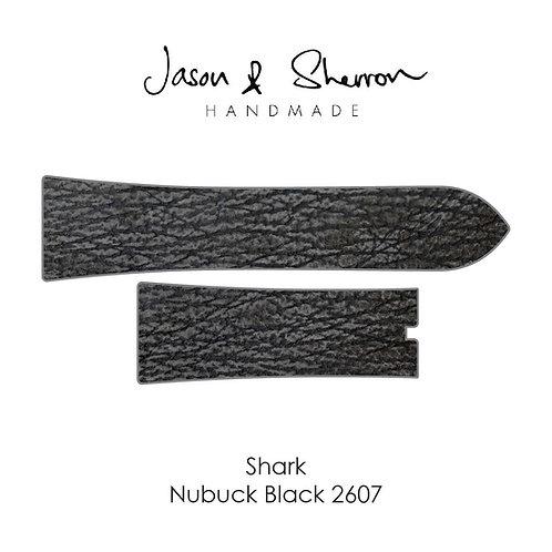 Shark Nubuck Black 2607: Watch Strap Customisation