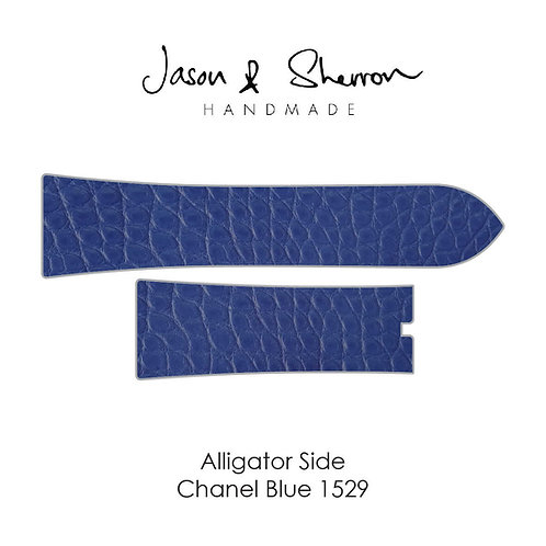 Alligator Side Chanel Blue 1529: Watch Strap Customisation