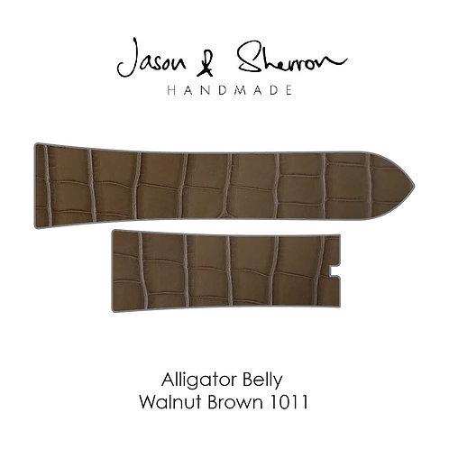 Alligator Belly Walnut Brown 1011: Watch Strap Customisation