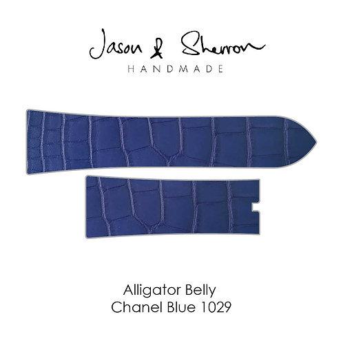 Alligator Belly Chanel Blue 1029: Watch Strap Customisation