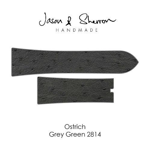 Ostrich Grey Green 2814: Watch Strap Customisation