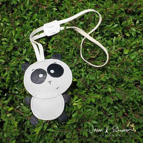 Panda: Leather Bag Charm
