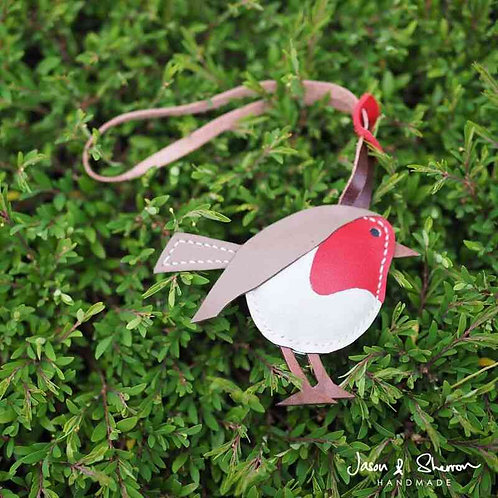 Robin Bird: Leather Bag Charm