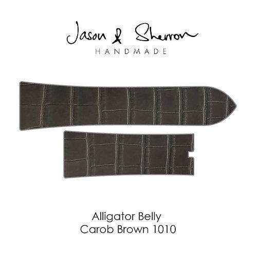 Alligator Belly Carob Brown 1010: Watch Strap Customisation