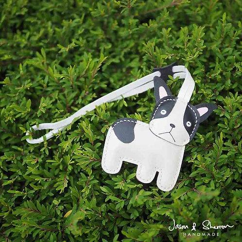French Bulldog: Leather Bag Charm