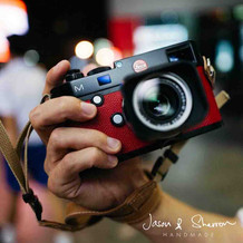 Leica M9 Black reskined with Epsom Red L