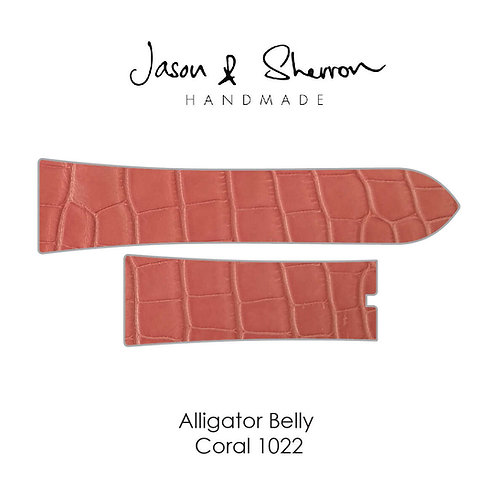 Alligator Belly Coral 1022: Watch Strap Customisation