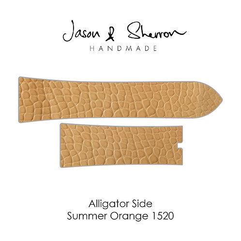 Alligator Side Summer Orange 1520: Watch Strap Customisation