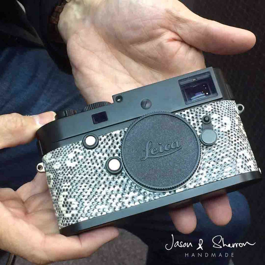 Leica M246 Black reskined with Lizard Ob