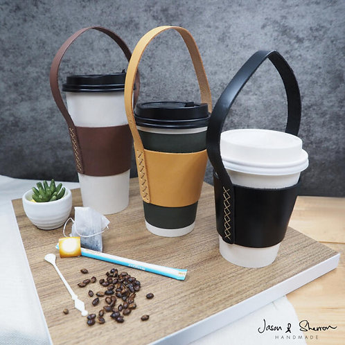 Ready Made: Leather Calf Takeaway Cup Holder