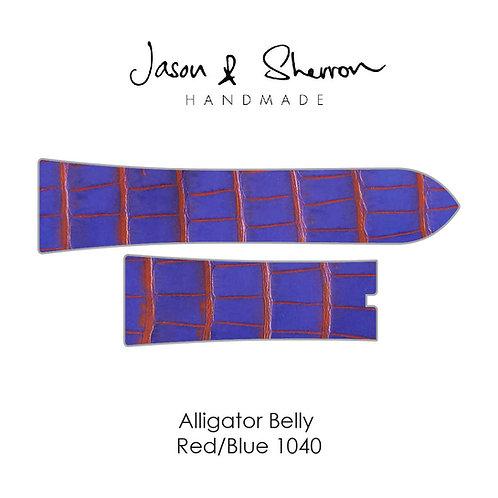 Alligator Belly Red/Blue 1040: Watch Strap Customisation