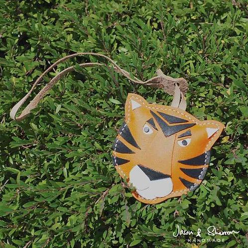 Tiger: Leather Bag Charm