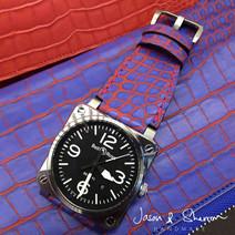 Bell & Ross BR03-92 in Alligator Red Blu