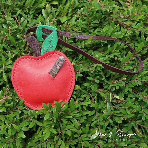 Apple: Leather Bag Charm