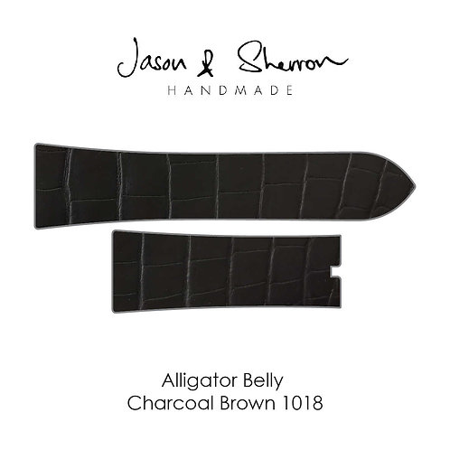Alligator Belly Charcoal Brown 1018: Watch Strap Customisation
