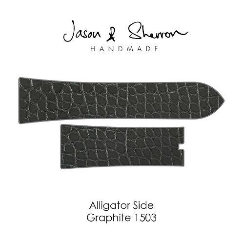 Alligator Side Graphite 1503: Watch Strap Customisation
