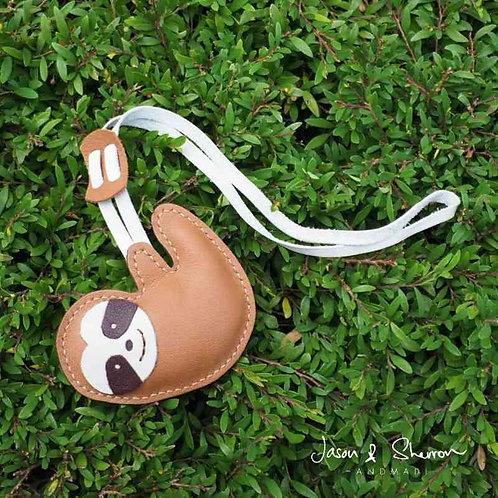 Sloth: Leather Bag Charm