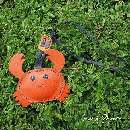 Crab: Leather Bag Charm
