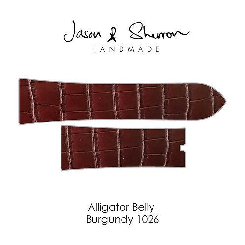 Alligator Belly Burgundy 1026: Watch Strap Customisation