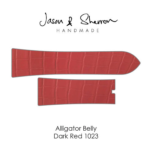 Alligator Belly Dark Red 1023: Watch Strap Customisation