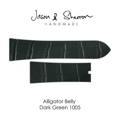 Alligator Belly Dark Green 1005: Watch Strap Customisation