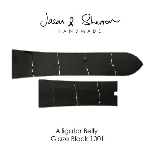 Alligator Belly Glaze Black 1001: Watch Strap Customisation