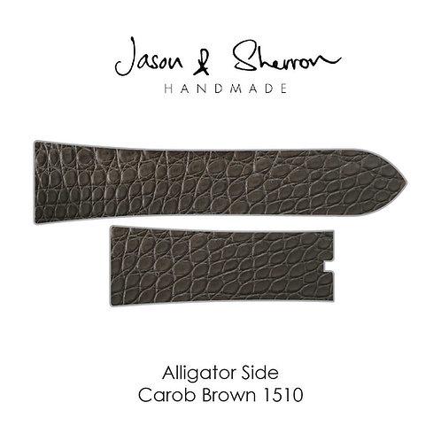 Alligator Side Carob Brown 1510: Watch Strap Customisation