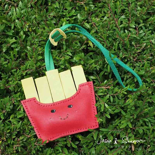 Fries: Leather Bag Charm