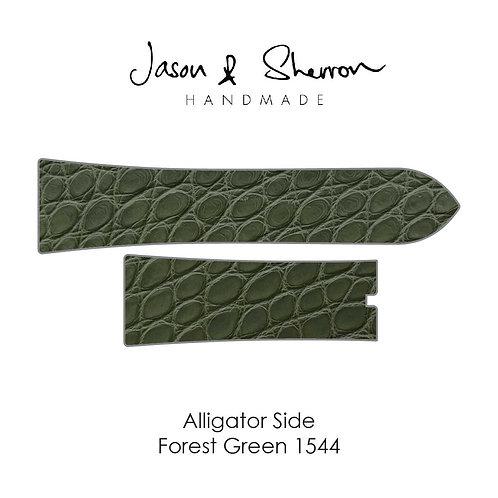 Alligator Side Forest Green 1544: Watch Strap Customisation