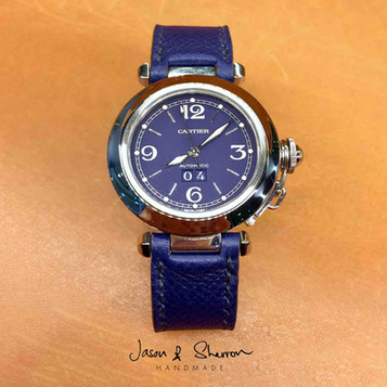 Cartier Pasha C in Epsom Electric Blue.j