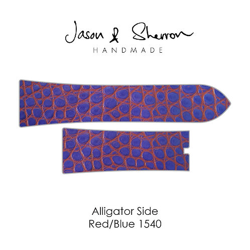 Alligator Side Red/Blue 1540: Watch Strap Customisation