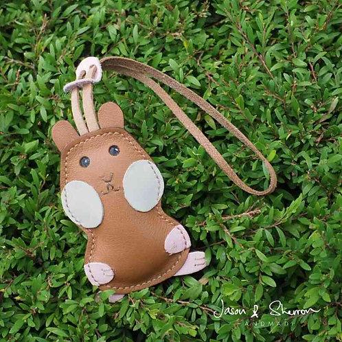 Hamster: Leather Bag Charm