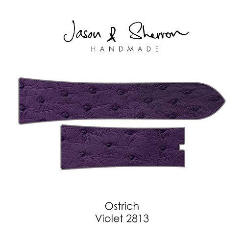 Ostrich Violet 2813: Watch Strap Customisation