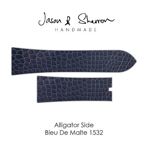 Alligator Side Bleu De Malte 1532: Watch Strap Customisation