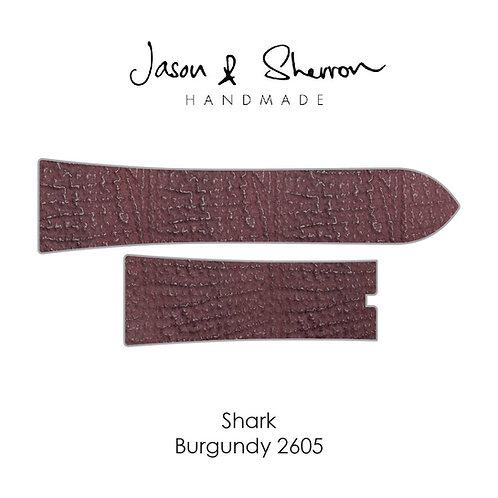 Shark Burgundy 2605: Watch Strap Customisation