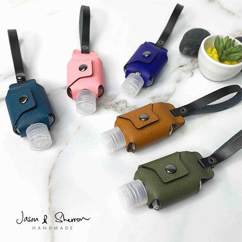 Premium Leather Hand Sanitiser Holder/Bag Charm: Saffiano & Epsom Calf