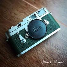 Leica M3B Silver reskined with Epsom Jad