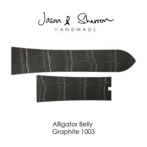 Alligator Belly Graphite 1003: Watch Strap Customisation