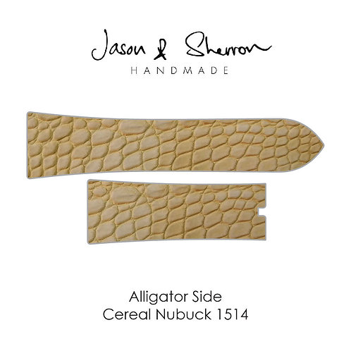 Alligator Side Cereal Nubuck 1514: Watch Strap Customisation