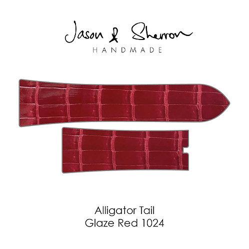 Alligator Tail Glaze Red 1024: Watch Strap Customisation