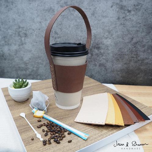 DIY Starter Kit: Leather Calf Takeaway Cup Holder