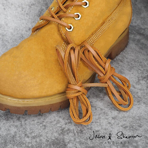 Full Grain Leather: Square Shoe Laces