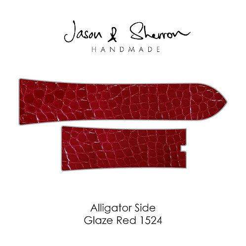 Alligator Side Glaze Red 1524: Watch Strap Customisation