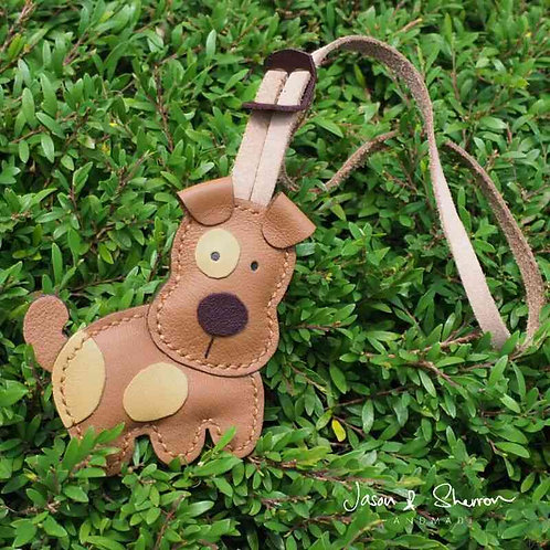 Jack Russell: Leather Bag Charm