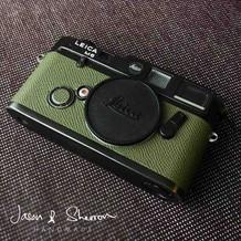 Leica M6 Black reskined with Epsom Olive
