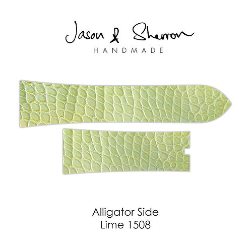 Alligator Side Lime 1508: Watch Strap Customisation