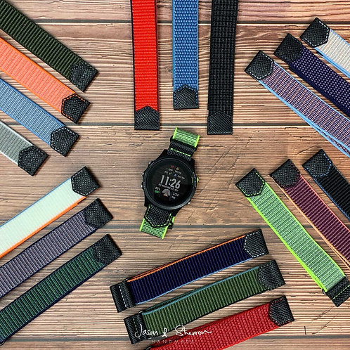 Nylon Fitness Sport Band Watch Strap for 22/24mm: Ready Made