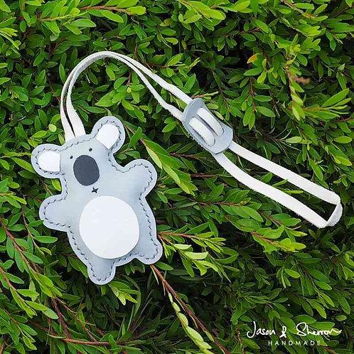 Koala Bear: Leather Bag Charm