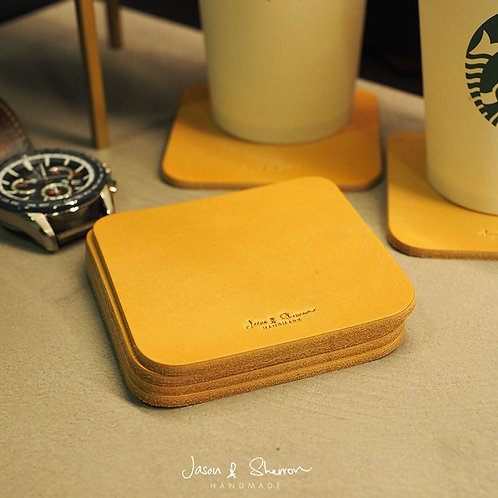 Vegetable Tan: Leather Coaster
