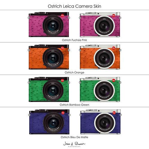 Ostrich: Leica Camera Skin